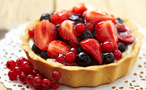 Tarte aux fruits rouges bio